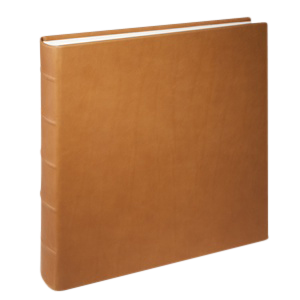 Medium Clear Pocket Album Traditional Leather
