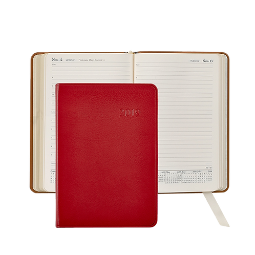 2019 Graphic Image Daily Journal Red Traditional Leather