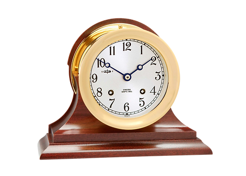 "4 1/2"" Ship's Bell Clock Traditional Base"