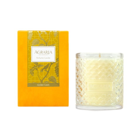 Agraria Crystal Candle 7oz. Golden Cassis