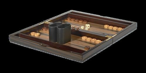 Tizo Ebony Lacquered Wood Backgammon Set