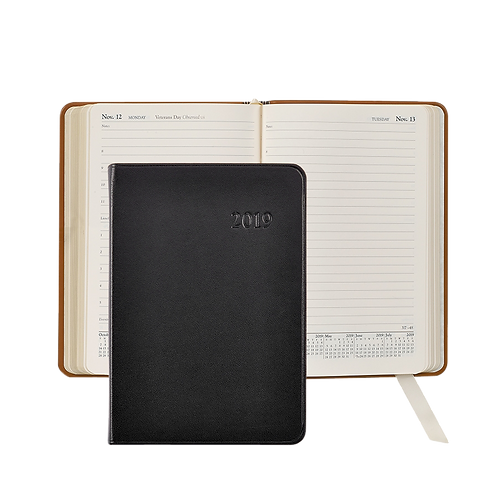 2019 Graphic Image Daily Journal Black Traditional Leather