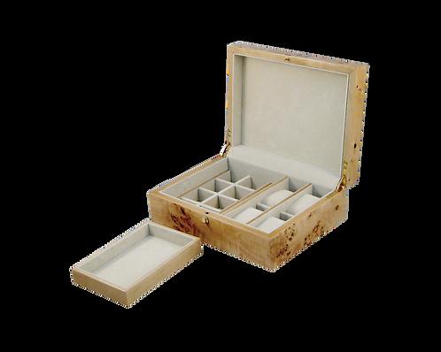 Tizo Burl Wood Cuff Link & Watch Box