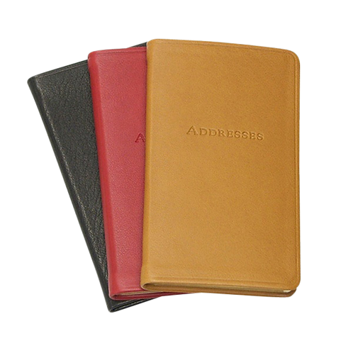 """7"""" Desk Address Book Traditional Leather"""