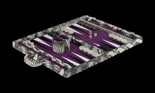 Tizo Snakeskin Backgammon Set