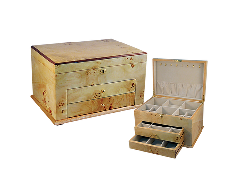 Tizo Burl Wood Jewelry Box