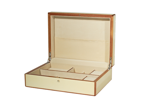 Tizo Polished Lacquer Jewelry Box Blond Wood