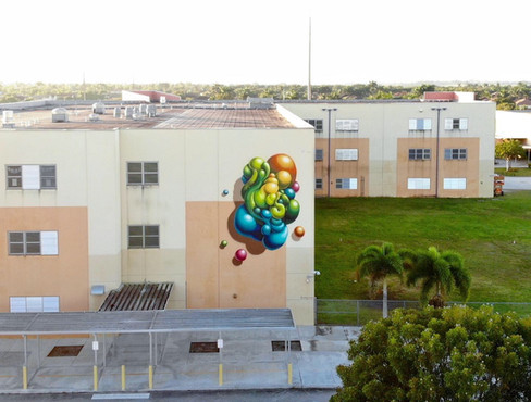 aWall Mural Projects 2019, Jorge Mas Canosa Middle School, Miami, FL