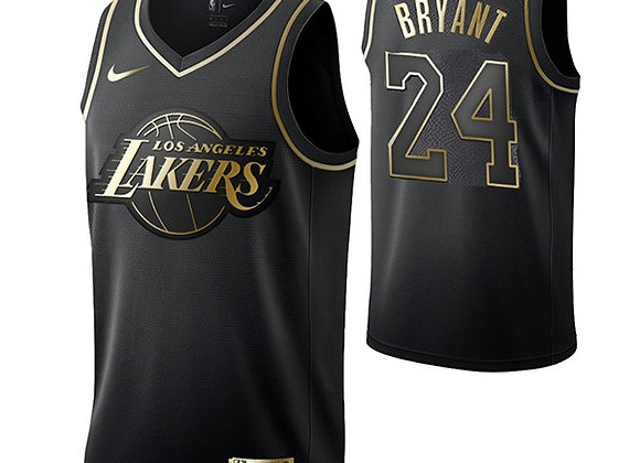 Los Angeles Lakers Kobe Bryant Black Gold Jersey