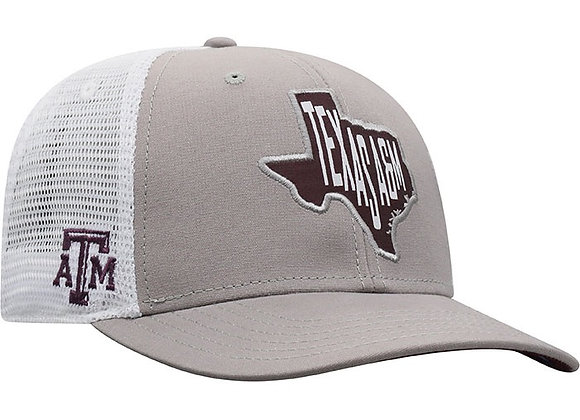 $10 Top Of The World Texas A&M Aggies Hi Rise Meshback Adjustable Hat - Grey -