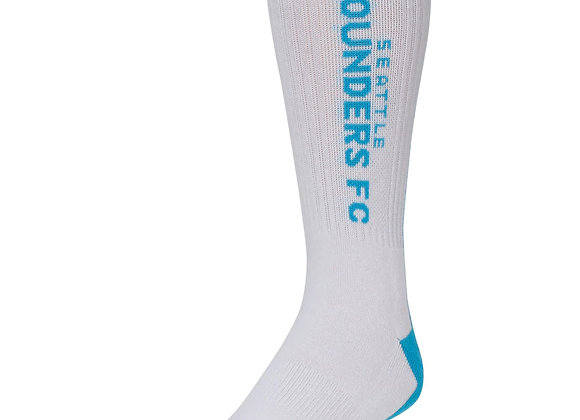 Men's adidas Light Blue/White Seattle Sounders FC Jersey Hook Crew Socks