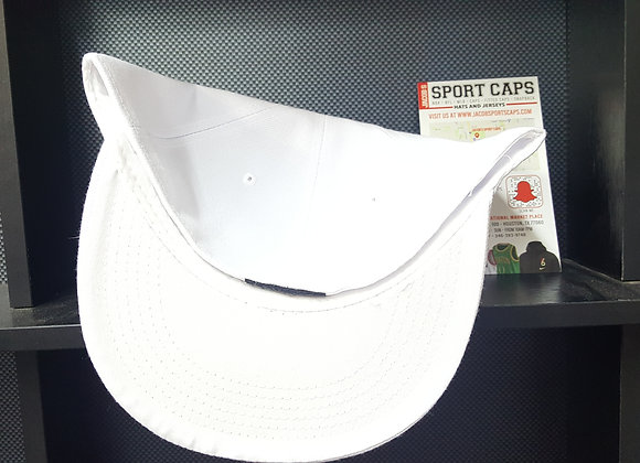 WHITE 7 5/8ths Blank fitted CAP