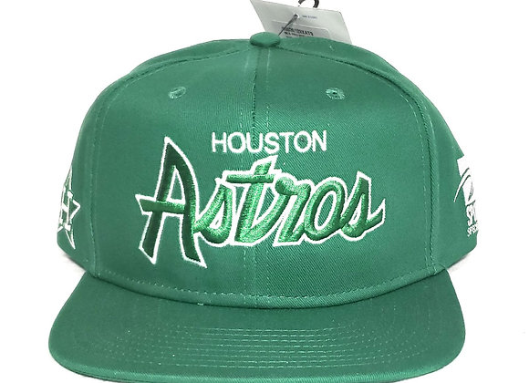 Sports Specialties Houston Astros Hat Green Vintage Snapback