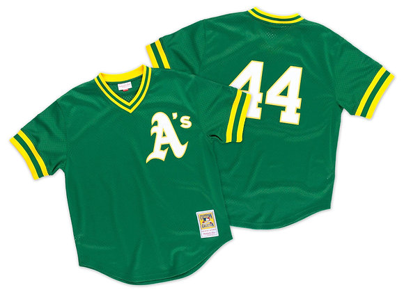 OAKLAND ATHLETICS REGGIE JACKSON #44 MITCHELL & NESS AUTHENTIC COOPERSTOWN COLLE