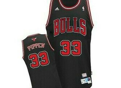 Scottie Pippen #33 Chicago Bulls NBA Adidas Vintage Throwback Black Jersey NWT