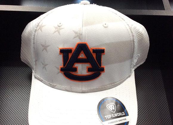 Auburn Tigers Top Of The NCAA Sub Flag Trucker WHT