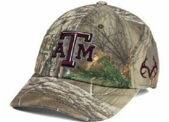 Texas A&m Aggies Top of The World NCAA Fallout Stretch Cap Hat Camo University