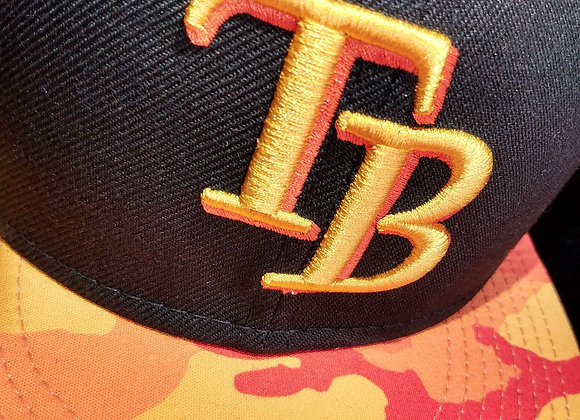 Tampa Bay Rays New Era MLB Fire Cammo SnapBack