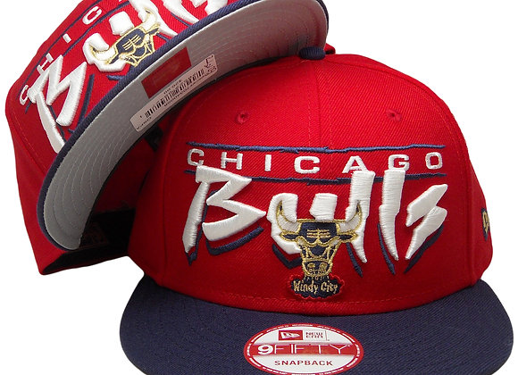 Chicago Bulls New Era Custom 9Fifty Snapback Hat - Red, Light Navy, White