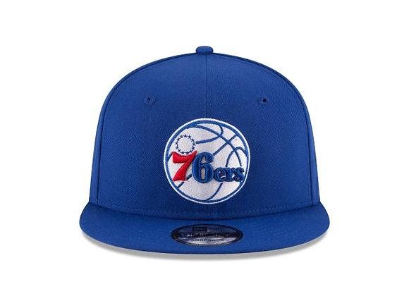 Philadelphia 76ers New Era Team Color 9FIFTY Adjustable Snapback Hat