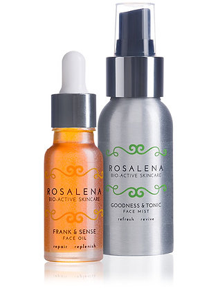 Frank & Sense Face Oil and Goodness & Tonic Face Toning Mist bottles