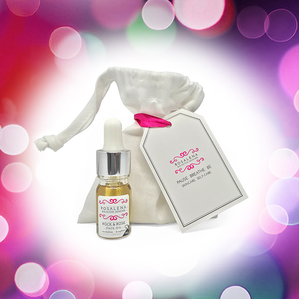 Rock & Rose Face Oil, award-winning and perfect for lifting, plumping and brightening skin this festive season