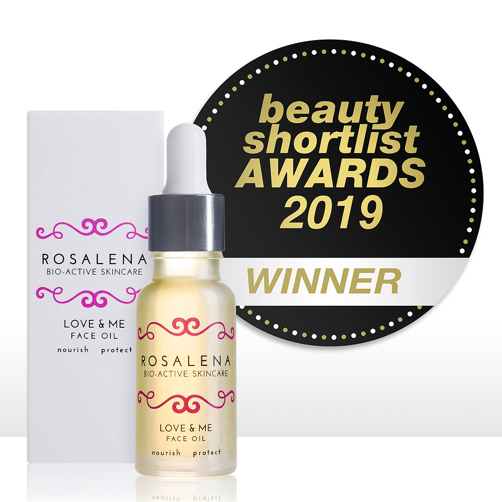 Love & Me Face Oil Winner of the Best Facial Oil for Sensitive Skin, The Beauty ShortList Awards 2019