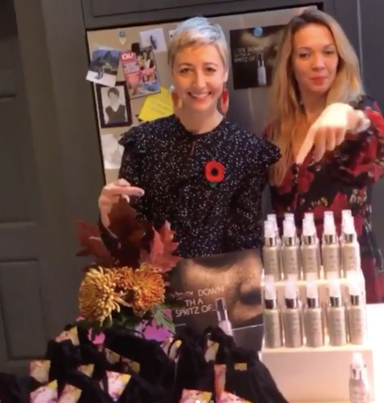 Helen and Helena ready to introduce the Cleansing Balm