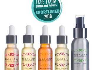 Rosalena shortlisted with 5 products in this year's FreeFrom Skincare Awards!