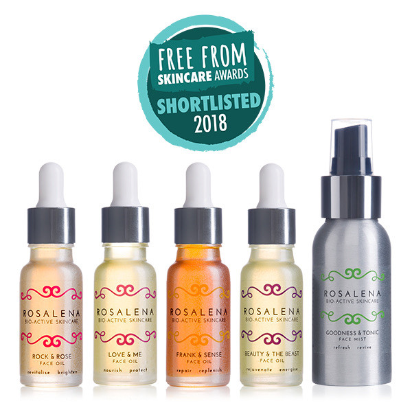 Rosalena has been shortlisted for 5 awards in this year's FreeFrom Skincare Awards!