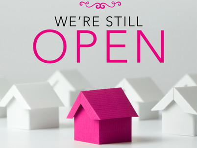 We're Still Open for Business