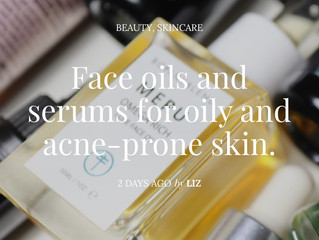Face oils and serums for oily and acne-prone skin