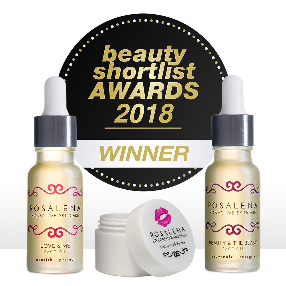 Love & Me Face Oil, Rosalena's Lip Conditioning Balm and beauty & the Beast Face Oil all won Editor's Choice