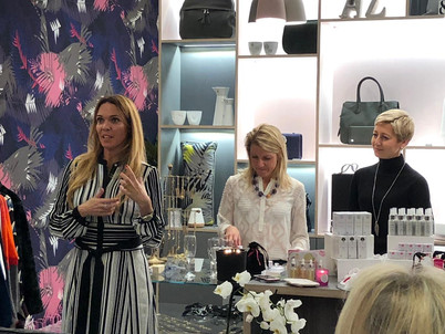 Oliver's Lounge joins forces with Rosalena Skincare team for an exclusive shopping event.