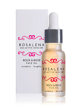 Rosalena Rock & Rose Face Oil bottle and box