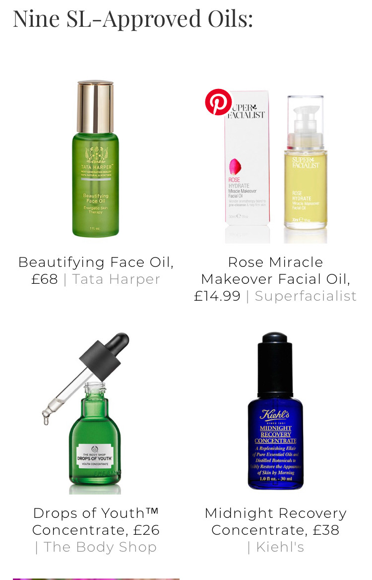 Sheer luxe approved face oils Head over tohttps://sheerluxe.com/2019/02/05/9-surprising-benefits-using-facial-oils