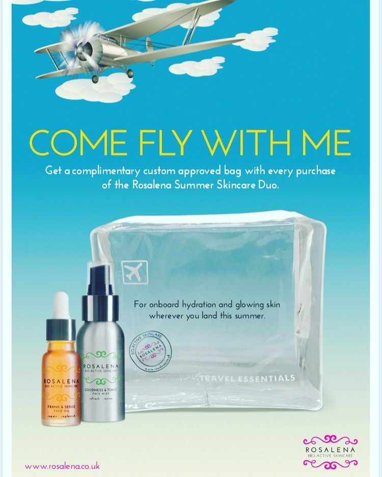 Come fly with me. In flight hydration for glowing skin wherever you land