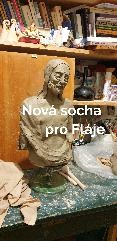 Nová socha Jana Křtitele u přehrady Fláje
