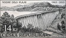 """Poštovní známka """"50 let vodního díla Fláje"""""""
