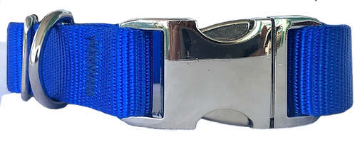 Metal Buckle Collar Blue
