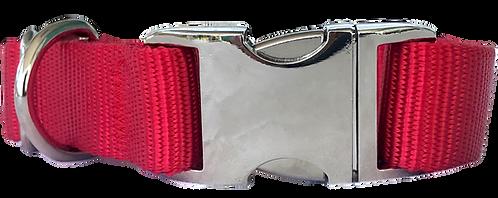 Metal Buckle Collar Red
