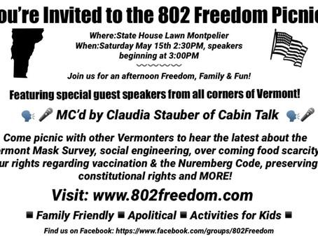 802 Freedom Picnic, 5/15/21Press Release
