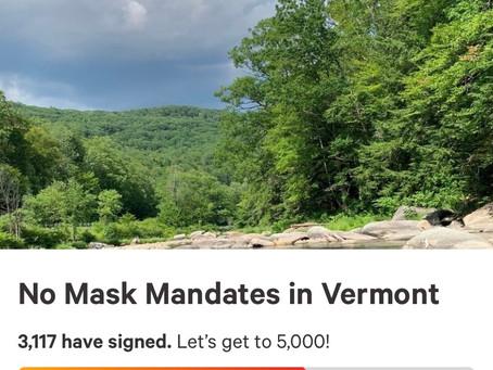 No Mask Mandates in Vermont