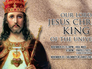 Masses for Solemnity of Christ the King
