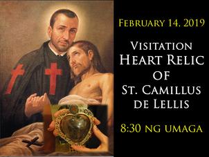 Visitation of Heart Relic of St. Camillus de Lellis