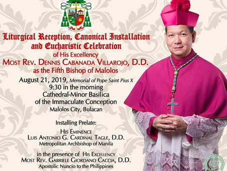 Reminders for Installation Day of Bishop Villarojo
