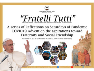 """""""Fratelli Tutti,"""" A Series of Reflections for Advent"""