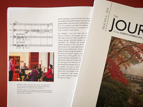 Journal of the North American Japanese Garden Association article on Garden Soundscape by Martin McKellar and Diogo Carvalho