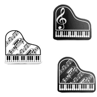 313 | Stationery | Music themed erasers