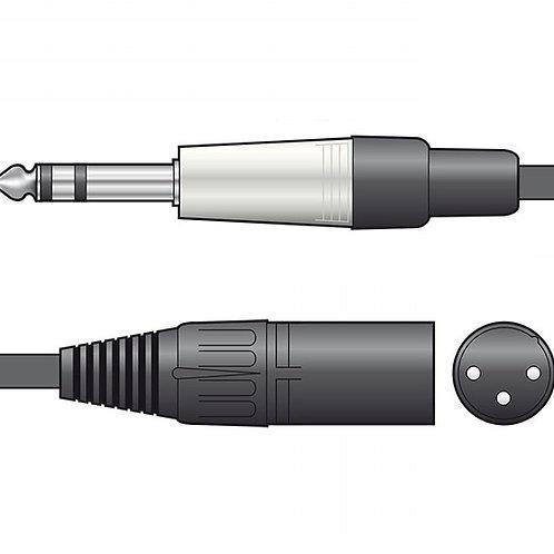 190.0 | Audio Leads | 6.3mm TRS Jack Plug - XLR Male